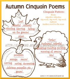 Autumn+Cinquain+Poems+completed Free Fall Unit Study Ideas– For Older Kids Too - repinned by @PediaStaff – Please Visit  ht.ly/63sNt for all our ped therapy, school & special ed pins