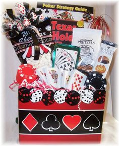 Poker Night Auction Basket For Guys - Casino theme basket idea