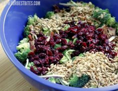 broccoli craisins sunflower seeds BROCCOLI SALAD