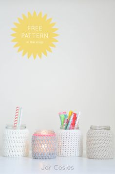 DIY Crochet Jar Cosies | The Yvestown Blog