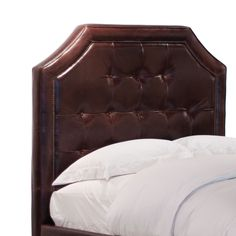 Why not treat yourself to a leather headboard??  Henry Leather Bed, made by Imperial Slumber