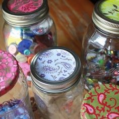 How-to Pimp your Mason Jars - use holiday paper and fill with candied nuts or cookie mixes for a creative DIY gift