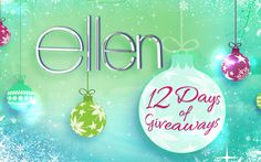 holiday, ellen 12, ellentvcom, ellen degener, giveaway, win ticket, christma, win 12, thing