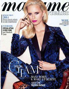 Karlina Kurkova on the cover of Madame Figaro, December 2013