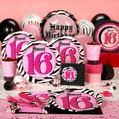 Super Stylish 16 Party Supplies help to pull off the Perfect Sweet 16 Party