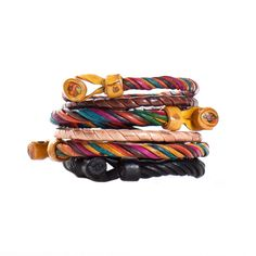 beautiful spiral leather bracelets from marrakech, morocco. These look so festive!