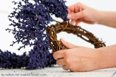All you need is a wreath form, a few faux-flowers and 5 minutes to make this beautiful floral wreath. (@Make It and Love It)