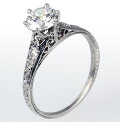 vintage engagement rings, vintage weddings, vintag engag, dream, vintage rings, engagements, wedding rings, engag ring, celebrity weddings