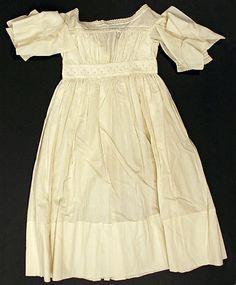 Girls Dress 1840, American, Made of cotton