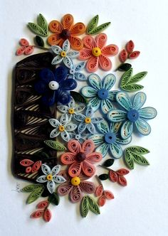 quill free, quill flower, free pattern, flower baskets, design patterns, craft idea, papers, paper quilling, quillingart