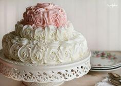 idea, elegant cakes, tiered cakes, flower cakes, simple weddings, wedding cakes, rose cake, parti, birthday cakes
