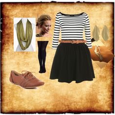 """Cute Fall Skirt"" by danimeyer on Polyvore"
