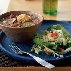 Vegetable Soup with Corn Dumplings | MyRecipes.com