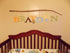 Name on nursery wall...DIY