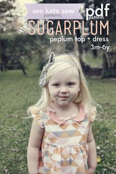 see kate sew: peplum top + dress pattern preview!