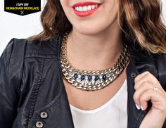 MY DIY | Swarovski Gem & Chain Necklace | I SPY DIY