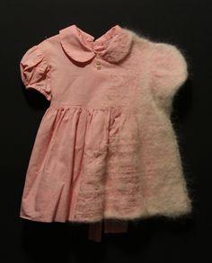 Stephanie Metz, Pelt Pink Checker Dress, Felted wool, found clothing