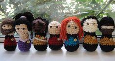 Star Trek: The Knit Generation tng, geek, crochet dolls, yarns, startrek, crochet stars, crafts, amigurumi, star trek
