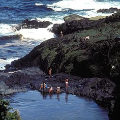 Haleakala National Park, Maui, Hawaii. Home of the best ocean-view swimming hole.