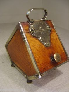 Isn't this cool...Antique Tea Caddy