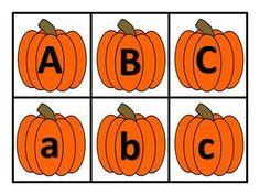 Pumpkin ABC Match Up Game.