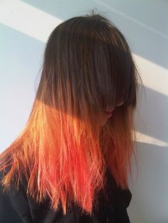 natural to orange ombre hair