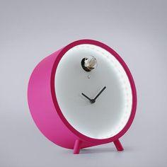 Plex LED Magenta CUCKOO CLOCK by Diamantini & Domeniconi.