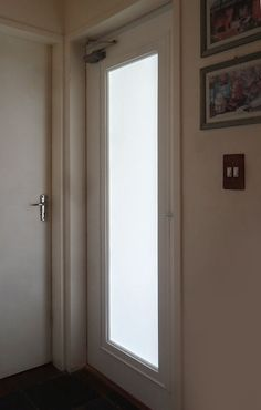 how to add a glass panel to a hollow core door