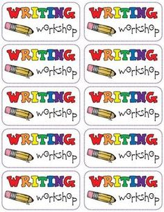 """Spice up your writing folders with this FREEBIE!  Print them on a full sheet of sticker paper or labels, cut apart and add them to the front of your students' writing folders!  If you enjoy these labels, please check out:  <a href=""""http://www.teacherspayteachers.com/Product/Writing-Checklist-1400986"""">Writing Checklist</a>  Thank you for visiting my store!  Enjoy and happy teaching!"""