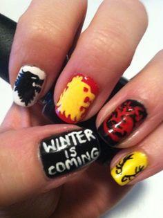 cool nail art by @lacquerdaisical