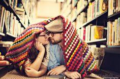 books, ador coupl, engagements, school libraries, engag shoot, campfires, blankets, engag photographi, engagement shoots