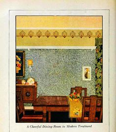 home painting, craft style, 1920s lifestyl, embellish wall