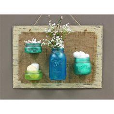 Vintage Mason Jar Décor Craft Project | Elmer's Crafter's Projects vintag mason, crafter project, décor craft, bathrooms decor, mason jar crafts, craft projects, jar décor, vintage mason jars