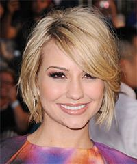 Chelsea Kane Hairstyle - I like the swept to the side look...wish I could see the back.