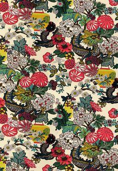 Chiang Mai Dragon in Alabaster, 173273. http://www.fschumacher.com/search/ProductDetail.aspx?sku=173273 #Schumacher