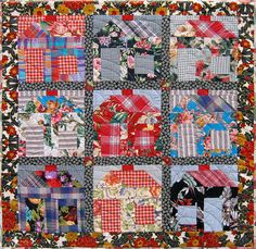 Upholstery Houses by Niftyquilts    Made of upholstery samples and thrift store shirts.