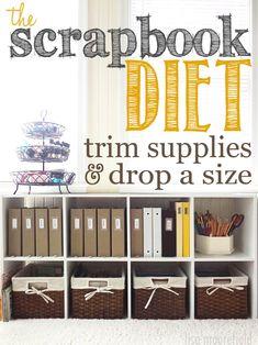 scrapbook diet - downsizing your supplies