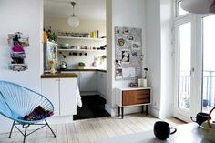 interior design, open shelves, cabinet, kitchen