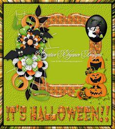 Scrapbooking TammyTags -- TT - Designer - Creative Elegance Designs, TT - Item - Frame, TT - Style - Cluster, TT - Theme - Halloween