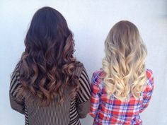 Dark brown ombre and blonde ombre! By Dustin Baker :)