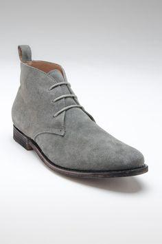 JD FISK Franklin Chukka Boot Grey Suede