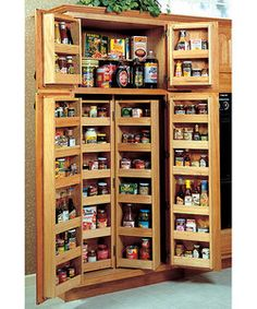 """storage system for a 36"""" wide pantry cabinet. Have a great pantry no matter what housing you end up in!"""