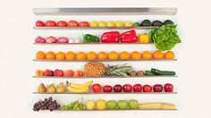 Fruit Wall o pared de frutas para almacenar tus frutas y verduras de forma elegante y decorativa.