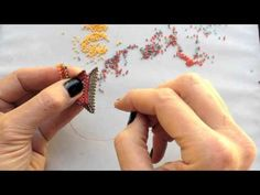 MRAW Bellyband & Tri-Wing Ring, from Contemporary Geometric Beadwork by Kate McKinnon. - YouTube