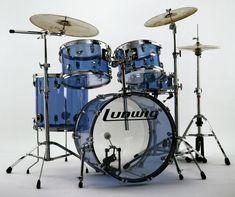 Ludwig Vistalite blue.