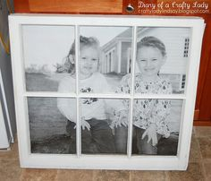 old window frames, old window panes, big pictur, diari, crafti ladi, old windows, a frame, old window projects, picture frames