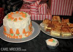 """The """"cake"""" is meatloaf with mashed potato icing, and the grilled cheese """"sandwiches"""" are cake!"""
