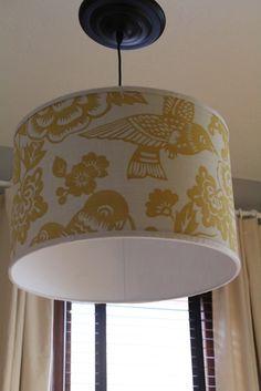 Great looking result for DIY pendant light! (Back on Festive Road: Office Makeover Part 5: Pendant Light)