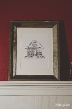 Doodled Dwellings Commissioned Doodle by HollyMcCaig on Etsy, $50.00