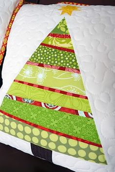 #quilted #Christmas tree #pillow